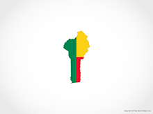 Map of Benin - Flag
