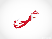 Map of Bermuda - Flag
