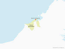 Map of Brunei Darussalam