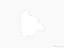 Map of Bolivia - Outline