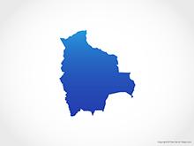 Map of Bolivia - Blue