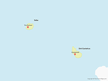 Map of Saba and Sint Eustatius