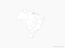 Map of Brazil with States - Outline