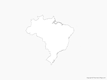 Map of Brazil - Outline