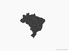 Map of Brazil - Stamp