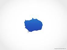 Map of Bouvet Island - Blue
