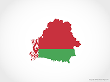 Map of Belarus - Flag