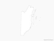 Map of Belize - Outline