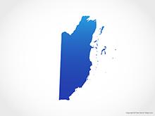 Map of Belize - Blue