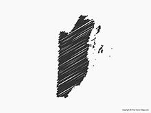 Map of Belize - Sketch
