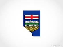 Map of Alberta - Flag