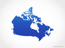 Map of Canada - Blue