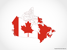 Map of Canada - Flag