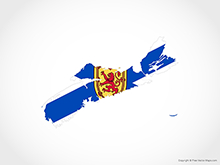 Map of Nova Scotia - Flag