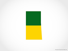 Map of Saskatchewan - Flag
