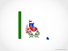 Map of Yukon - Flag