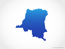 Map of Democratic Republic of the Congo - Blue