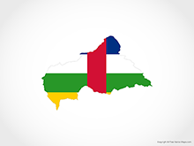 Map of Central African Republic - Flag
