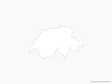 Map of Switzerland - Outline