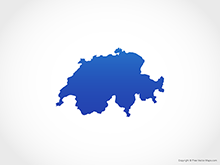 Map of Switzerland - Blue