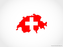 Map of Switzerland - Flag