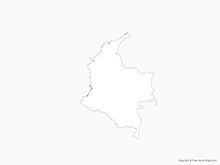 Map of Colombia - Outline