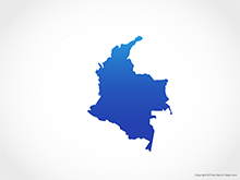 Map of Colombia - Blue