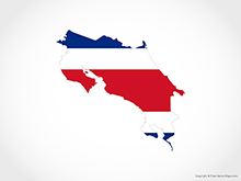 Map of Costa Rica - Flag