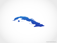 Map of Cuba - Blue