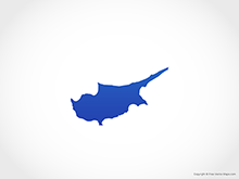 Map of Cyprus - Blue