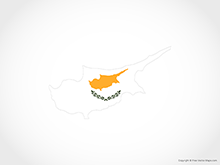 Map of Cyprus - Flag