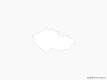 Map of Czech Republic - Outline