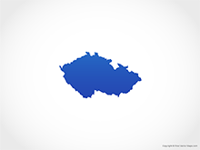 Map of Czech Republic - Blue