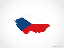 Map of Czech Republic - Flag