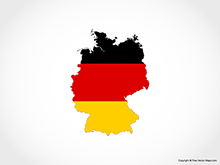 Map of Germany - Flag