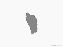 Map of Dominica - Single Color