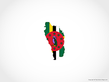 Map of Dominica - Flag