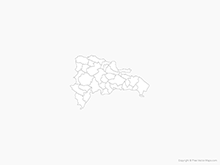 Map of Dominican Republic with Provinces - Outline