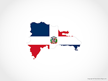 Map of Dominican Republic - Flag