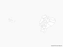 Map of Ecuador with Regions - Outline