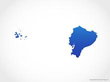 Map of Ecuador - Blue