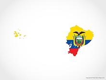 Map of Ecuador - Flag