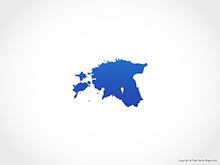 Map of Estonia - Blue