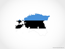 Map of Estonia - Flag