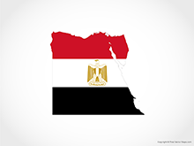 Map of Egypt - Flag