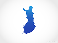 Map of Finland - Blue