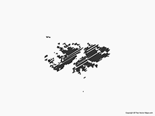 Map of Falkland Islands (Islas Malvinas) - Sketch