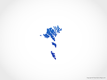 Map of Faroe Islands - Blue