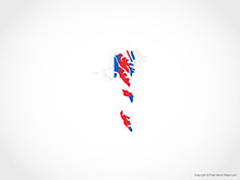 Map of Faroe Islands -Flag