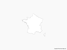 Map of France - Outline